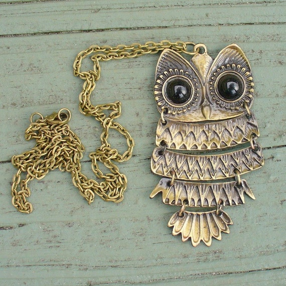 Steampunk goth WISE OWL  Necklace  Victorian pendant charm pirate pendant Necklace
