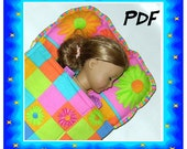 Doll Sleeping Bag PDF Fits any doll or best friend your child loves Barbie American Girl