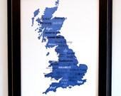 """Best of British Beer Word Art, 11""""x14"""" on Fine Art Paper"""