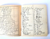 British 1920s Exercise Book Birdwatching Lists