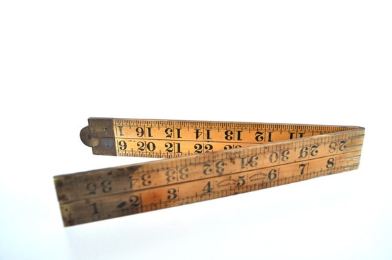 Vintage Wooden Folding Ruler Boxwood Made in England J. Rabone