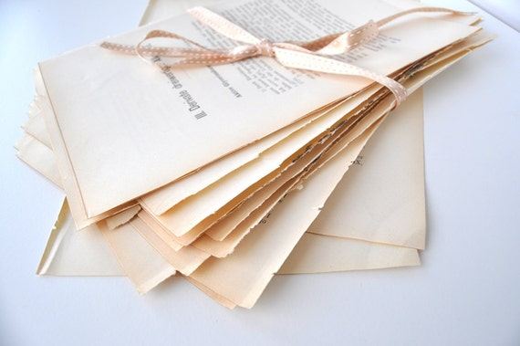 Antique Paper 20 Old Chemistry Book Pages for Collage Decoupage