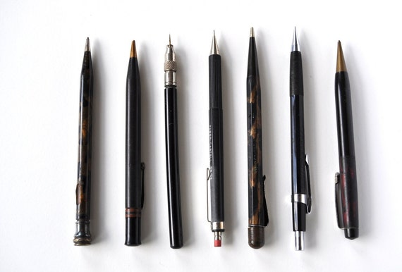 Vintage Mechanical Pencils, Writing Supplies, Faber, Pentel, Conway Stewart, Eversharp