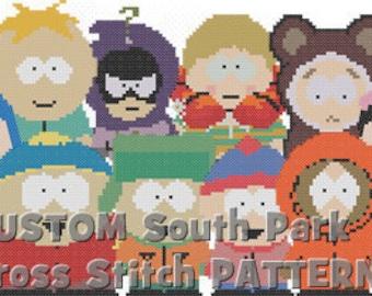 CUSTOM South Park Cross Stitch PATTERNS