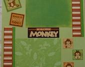 Monkey Scrapbook Layout 2-page (12x12)