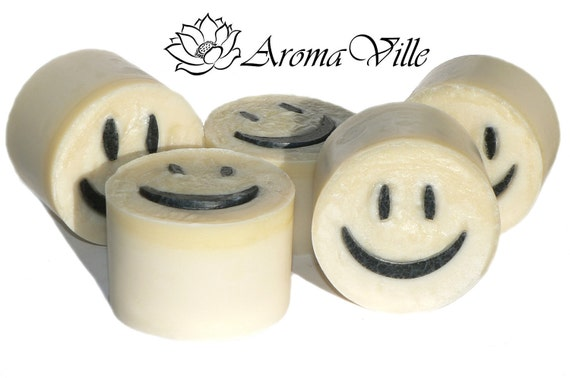 Shea Butter Happy Face Handmade  soap Cold process