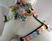 Dog Harness with Flower or Bow Tie Set - Traditional or Step-In - Pick Any Fabric in Shop