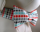 SALE - Dog Collar Set with Flower or Bow Tie  - Pick Any Fabric In Shop - Buy one set and get second set for half price