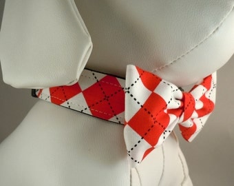 Dog Collar Sets with Flower or Bow Tie - Pick Any Fabric in Shop
