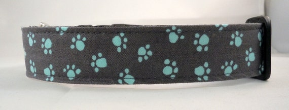 Dog Collar, Martingale Collar, Cat Collar - All Sizes - Paw Prints