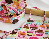 Sweet Cupcakes Child Apron and Adjustable Chef Hat - pink
