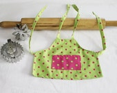 Lime Green & Hot Pink Doll Apron