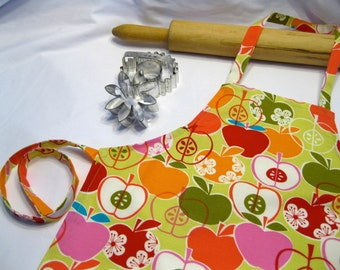 Retro Green Apple Child Apron