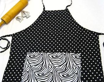 Zebra 'n Polka Dots Adult Apron