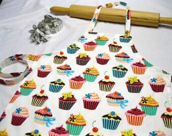 Retro White Cupcake Child Apron