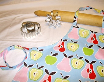 Retro Apples N Pears Child Apron