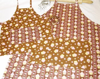 Chocolate Cupcakes Mother Daughter Aprons