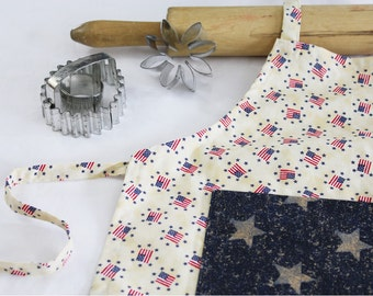 Old Glory Child Apron with pocket