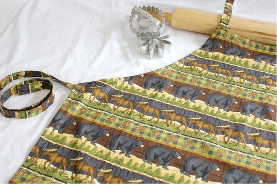 Bear and Moose Adult Apron