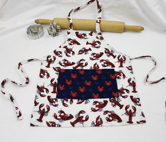 Little Crabby Child Apron with pocket