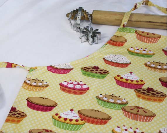 Pies on Yellow Adult Apron