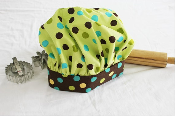 Fun Dots Child Chef Hat - Adjustable