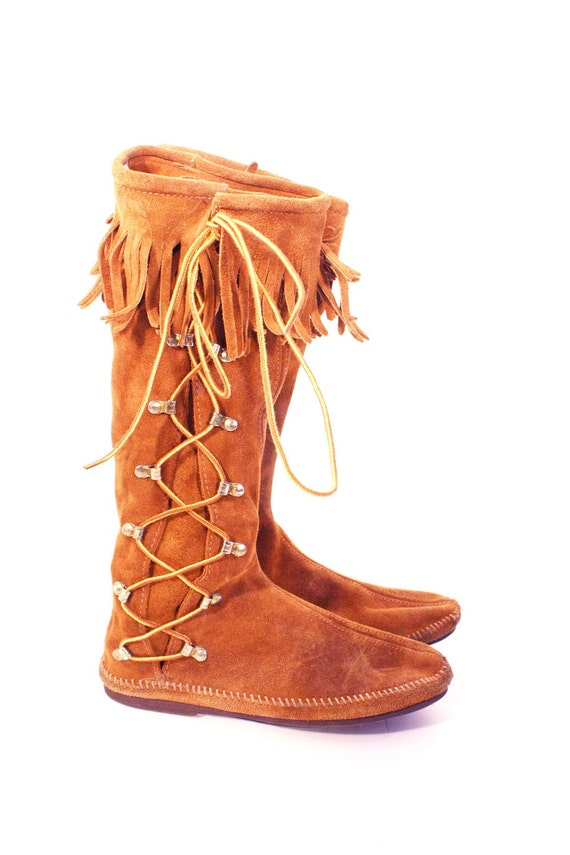 Side Lace Men's Moccasin Boots