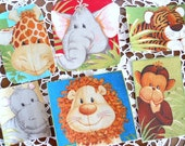 Jungle Animal Babies Iron On Applique - 6 Different