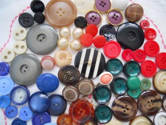 Vintage Buttons For Sewing, Crafting, Scrapbooking