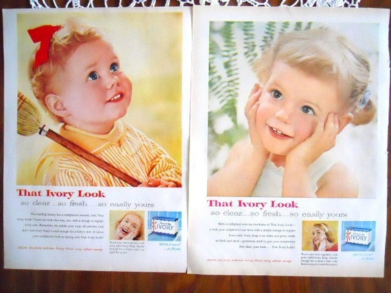 Ivory Soap Baby Ads - 1950's
