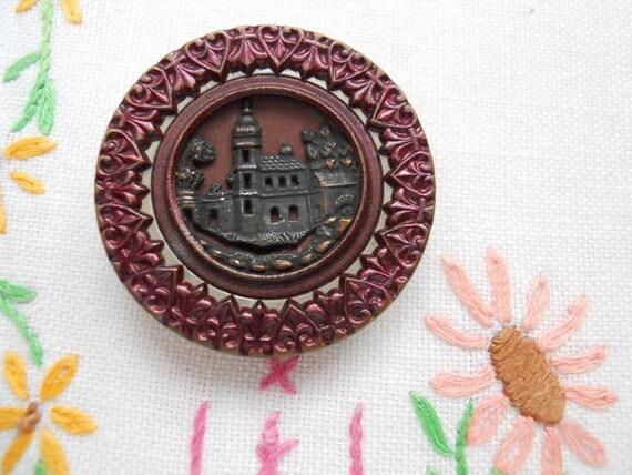 Tinted Victorian Button - Italian Villa
