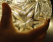 Vintage Libby Brilliant Cut Glass Bowl