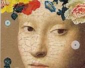 Queen Mab - handmade book art tag