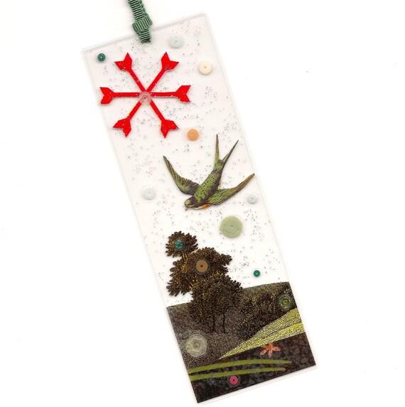 handmade collage bookmark - Evensong