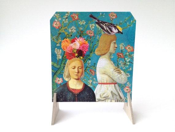 Viola & Orsino - collage paper art