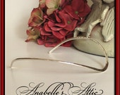 Solid Sterling Silver Open Cuff Choker by Designer Gerald Stinn  Designer Jewelry Modern Necklace Sophisticated Wedding