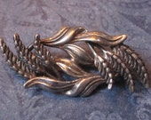 Antique Beau Sterling Silver Wheat Brooch