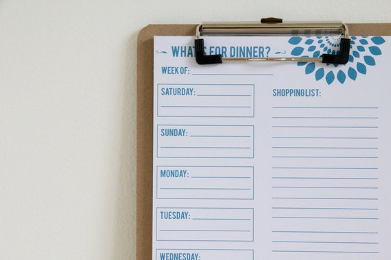 A5 Meal Planner Notepad - 50 pages