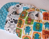 Flannel Baby Boy Bibs Set of 3