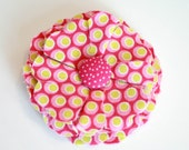 Pink Fabric Flower Hairclip