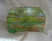 Citrus Surprise - Wooden Treasure / Jewelry Box