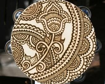 Henna Flower Tambourine