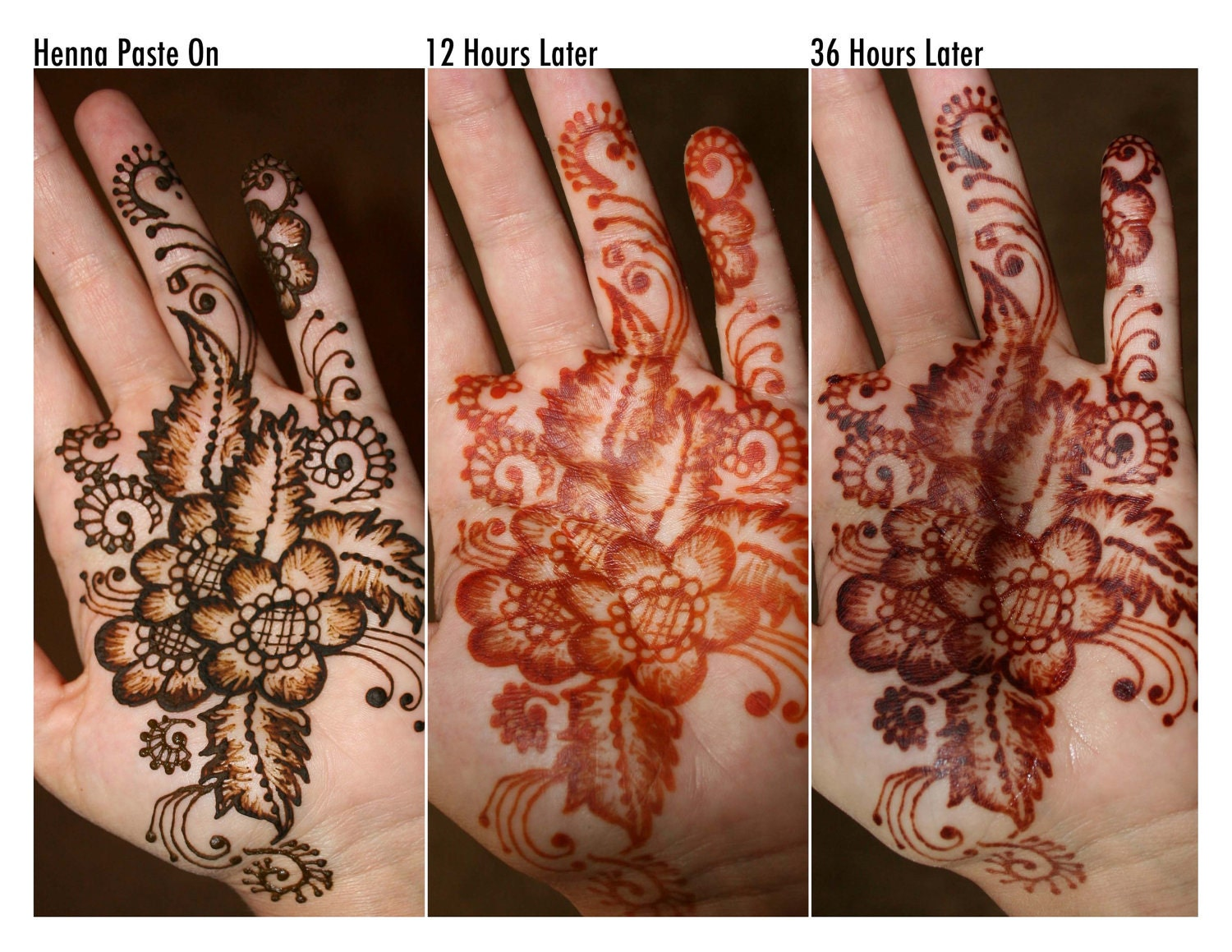 Henna Tattoo Color Brown: Henna Body Art Kit