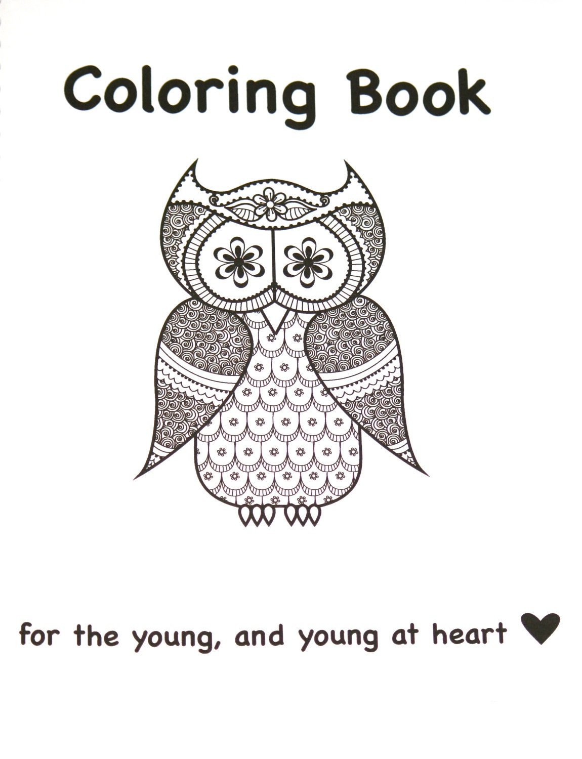 Henna Owl Coloring Pages Adult Coloring Book Henna