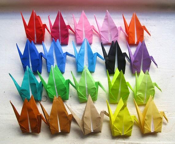 "U PICK COLOR 1000 3"" origami cranes paper cranes in multi colors wedding party Christmas Tree Ornament Decoration"