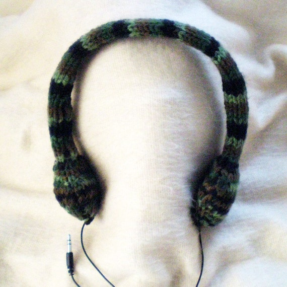 Camouflage Knitted Headphones