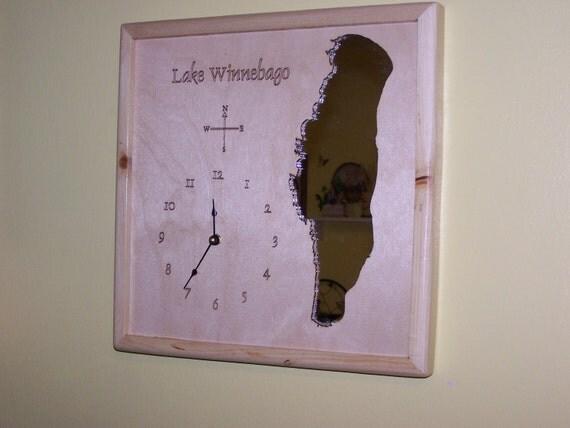 Lake Winnebago, WI Mirror Map