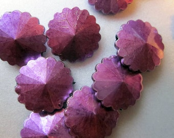 SALE - Spray Painted Purple Acrylic Beads 25mm 20 Beads
