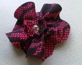 Hot Pink Snake Print Hair Clip