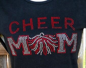 Women's rhinestone Cheer Mom shirt
